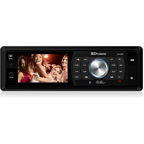 "XO Vision 3"" Touchscreen In-Dash DVD Receiver with Bluetooth and Detachable Face"