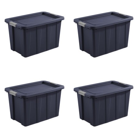 Sterilite, 30 Gal./114 L Latching Tuff1 Tote, Dark Indigo, Case of 4