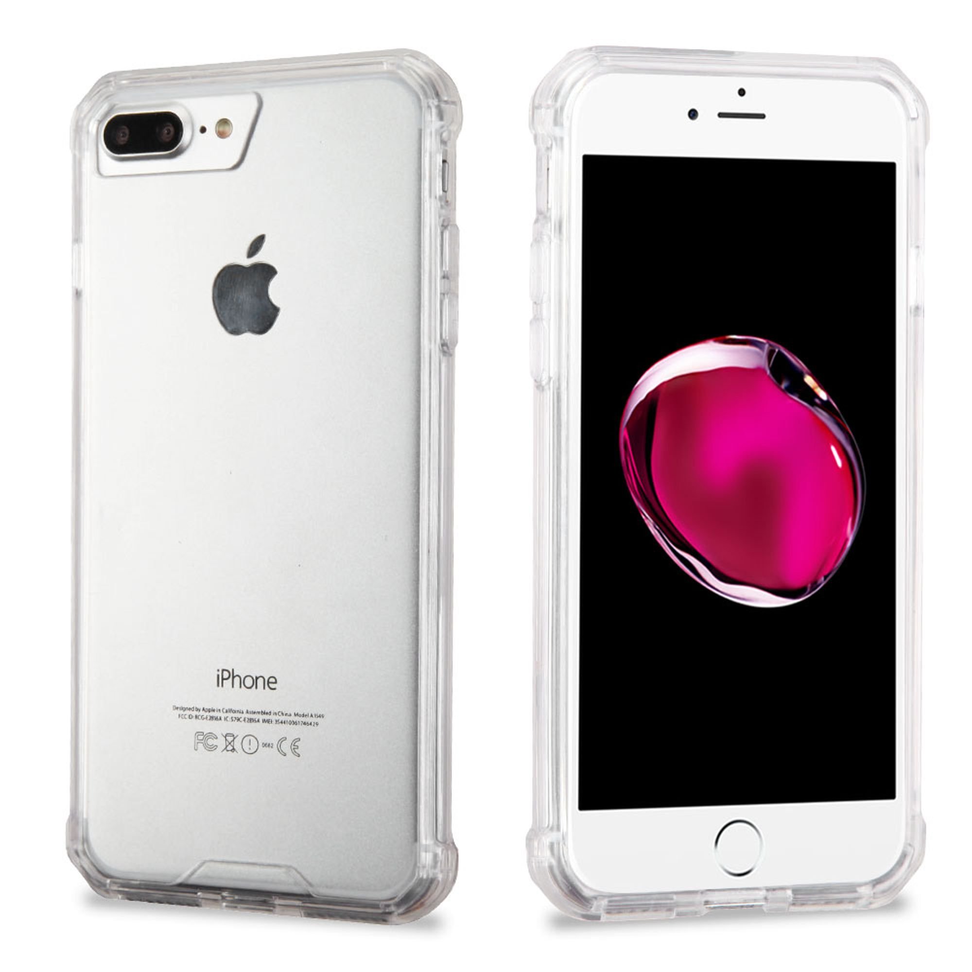 Insten Flexible Soft TPU Rubber Skin Cover Case for Apple iPhone 8 Plus / iPhone 7 Plus - Clear