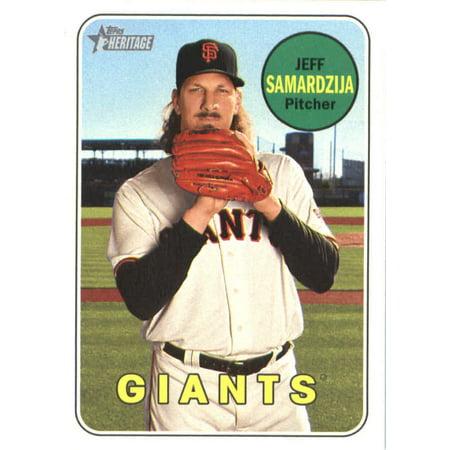 - 2018 Topps Heritage #197 Jeff Samardzija San Francisco Giants Baseball Card