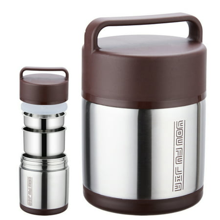 Meigar 3 Layer Vacuum Lunch Box Stainless Steel Insulated Food Container Jar with Lid ()