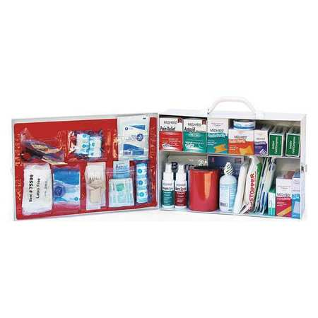 MEDIQUE 756ANSI First Aid Cabinet,White,2 Shelves G3341585