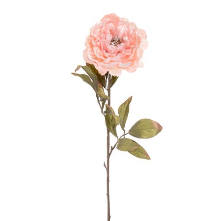 Darice Artificial Peony Long Stem: Glitter Pink, 26 inches