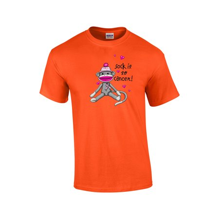 Cancer Awareness T-Shirt Sock It To Cancer](Annoying Orange The Sock)