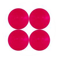 Mylec Cold Weather Hockey Balls, 4 Pack, Pink