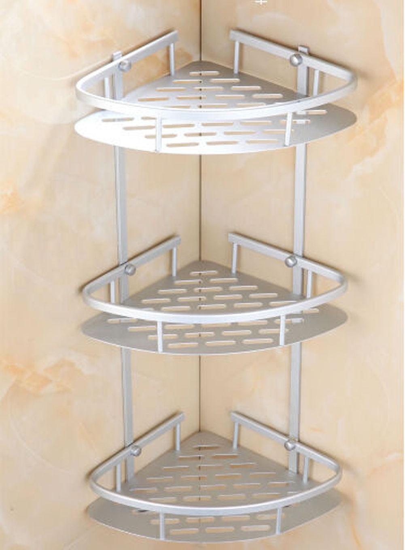 Estink Bathroom corner shelf ,Bathroom Corner bath Rack Storage Shower Caddy Basket 2  3... by