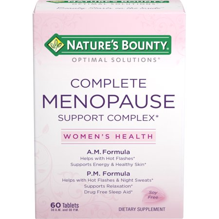 Nature's Bounty Optimal Solutions Menopause Support Complex, Helps with Hot Flashes, Supports Rest and Relaxation, Helps Convert Food To Energy, 60