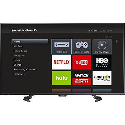Sharp 50 led 1080p smart hdtv roku tv