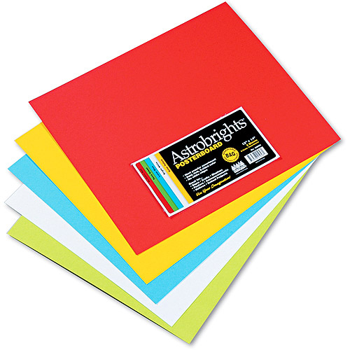 Wausau Paper Astrobrights Premium Poster Board, Assorted or White