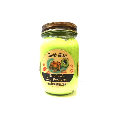 Turtle Kisses 16oz Country Jar Soy Candle Handmade in USA