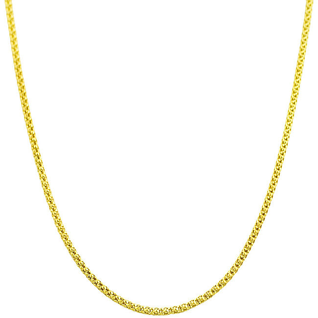 Fremada  14k Yellow Gold 18-inch Popcorn Chain