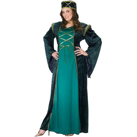 Emerald Lady in Waiting Plus Size Costume (Emerald Costume)