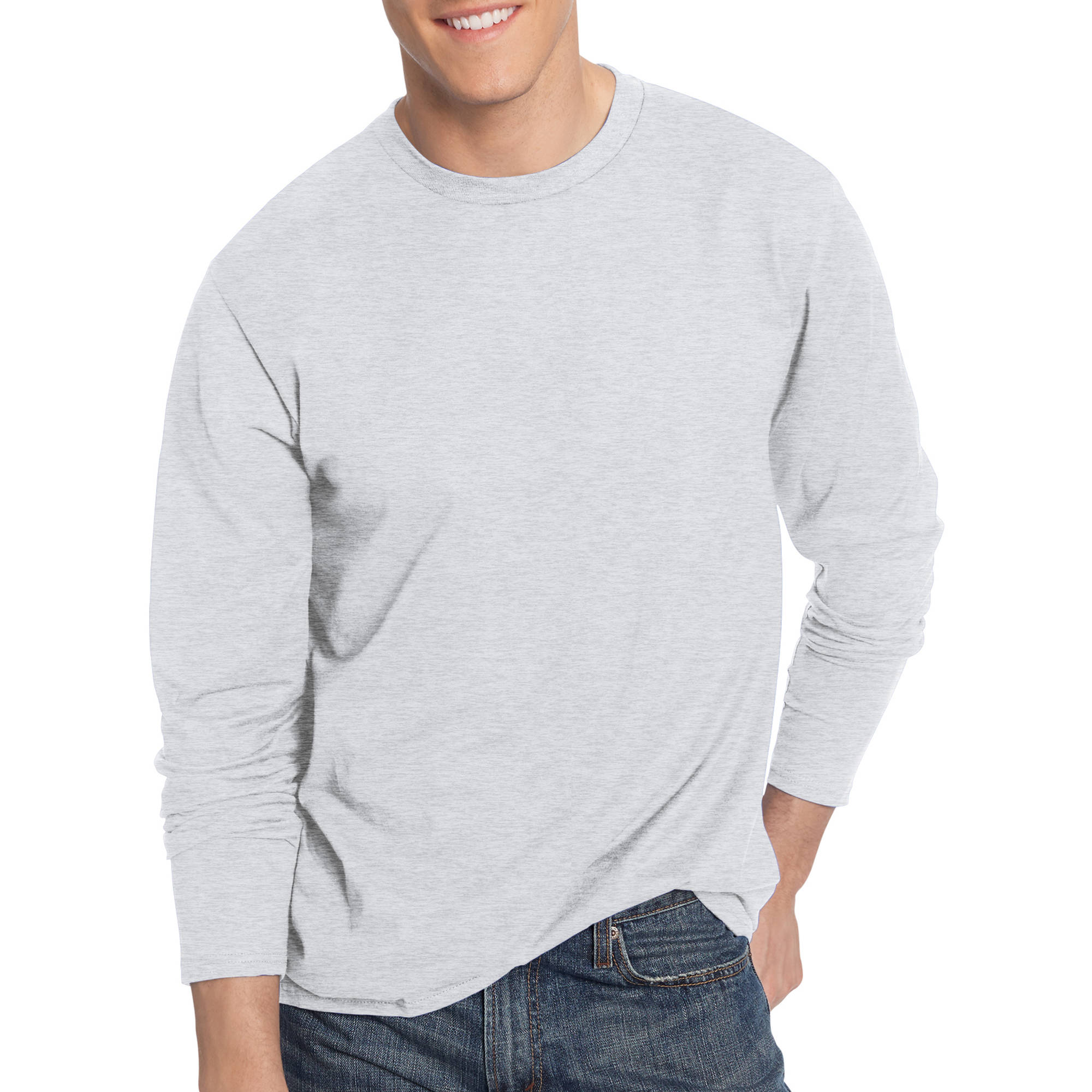 Hanes Men's Nano-T Tagless Ultra-Light Long Sleeve Tshirt ...