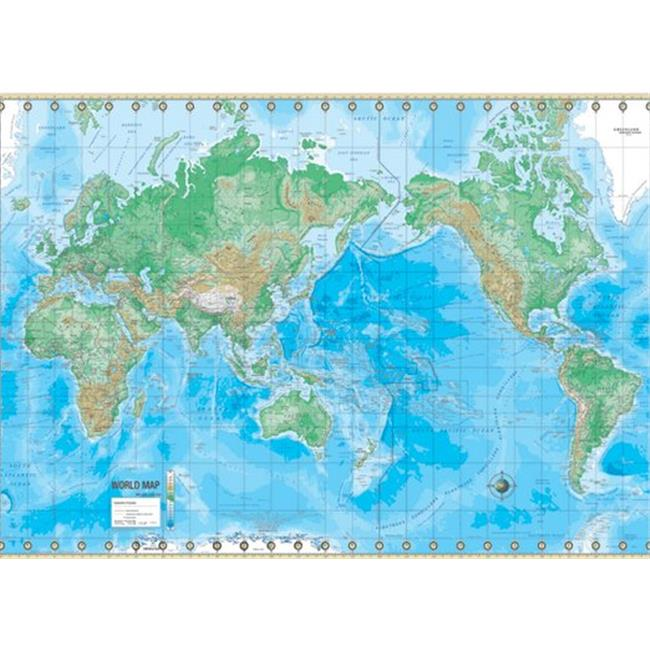 Universal Map 29177 Advanced Physical World Paper - Rolled Map