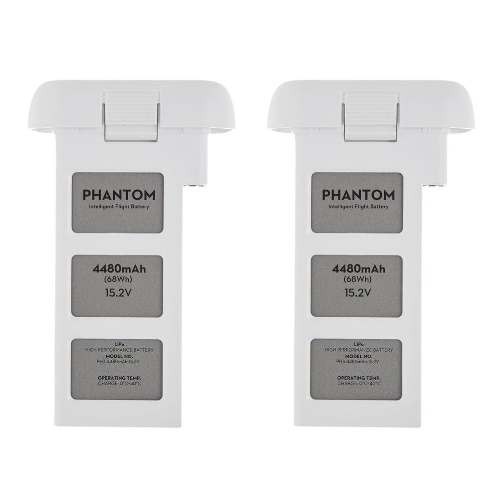 DJI Phantom 3 Quadcopter Drone 4480mah Intelligent Flight Battery 2-Pack Bundle
