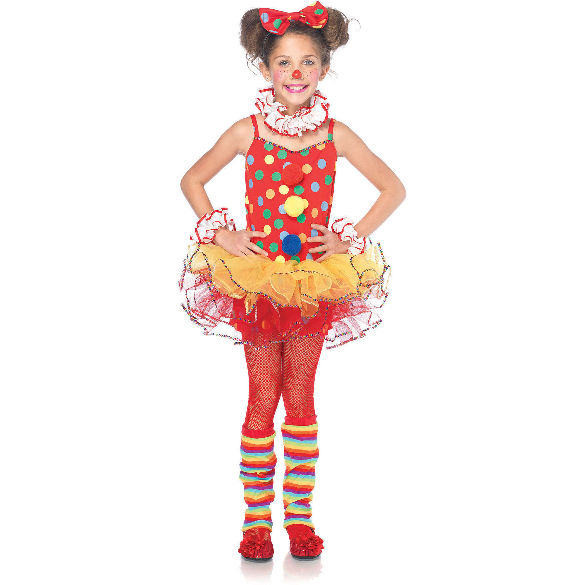 Leg Avenue Circus Clown Child Halloween Costume, Size M