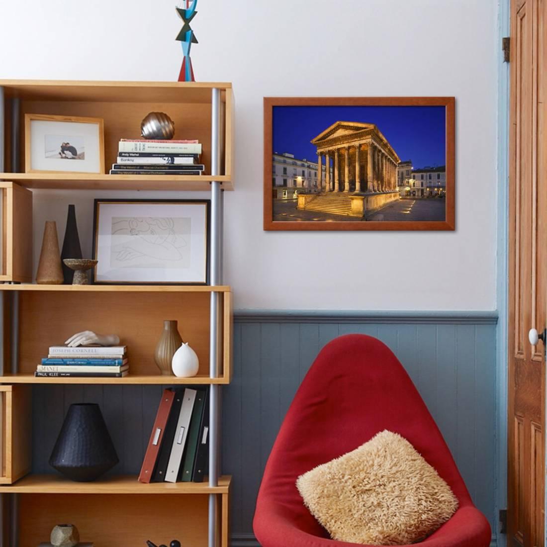 Maison Carree at Dusk Framed Print Wall Art By Jon Hicks