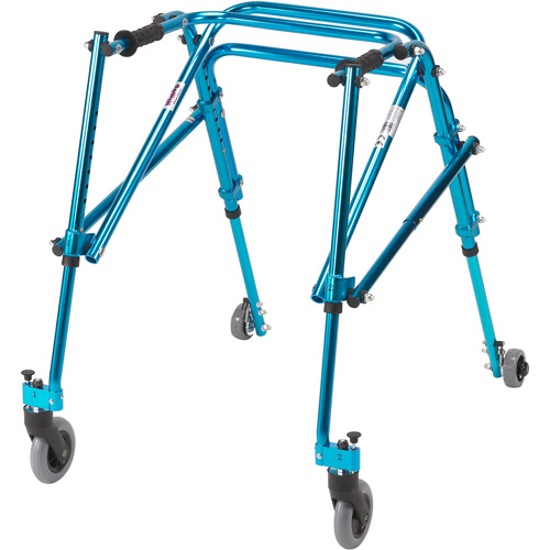 Drive Medical Nimbo Rehab Lightweight Posterior Posture Walker, Youth, Cornflower Blue