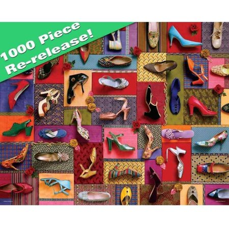 Springbok Shoes! Shoes! Shoes! 1,000-Piece Jigsaw Puzzle Shoes! Shoes! Shoes! is perfect for those of us who enjoy a slightly smaller collection of shoes  if that is possible!
