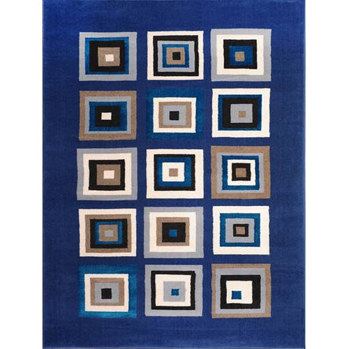 Home Dynamix Tremont Area Rugs - 3202-336 Geometric Blocks Boxes Cubes Squares Rug