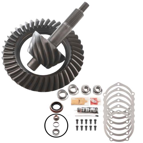 LIGHTENED AX - 6.50 RING AND PINION & MASTER BEARING INSTALLATION KIT - FORD 9