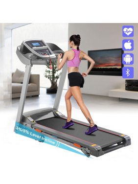 3.0HP APP Bluetooth Control Incline Electric Folding Treadmill With 3/5% Manual Incline Treadmill