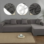 Sofa Covers for L Shape, Polyester Fabric Stretch Slipcovers 3 + 2 seat for Sectional sofa L-shape Couch