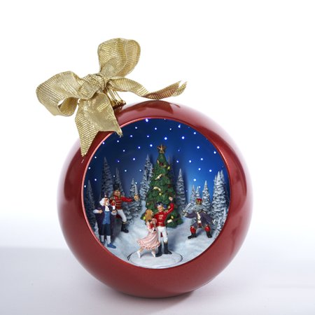 10 animated and musical nutcracker ballet scene christmas ball decoration - Animated Christmas Scene Decorations