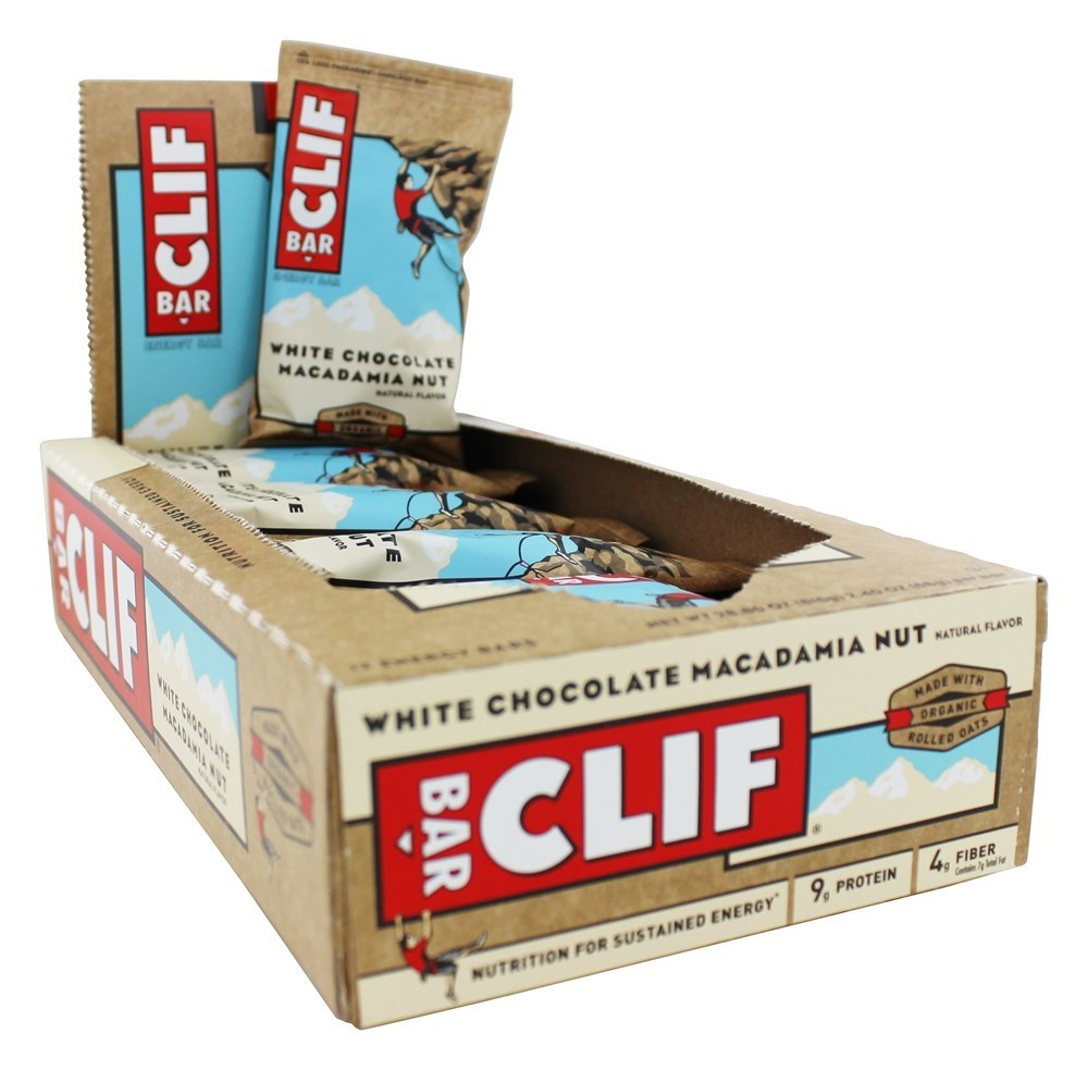 Clif Bar - Organic Energy Bars Box White Chocolate Macadamia Nut - 12 Bars
