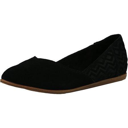 13fbd3d1f45 Toms - Toms Women s Jutti Suede Black Diamond Emboss Above the Knee Suede  Flat Shoe - 6M - Walmart.com