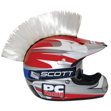 Pc Racing Helmet Customization White Mohawk   Give Your Helmet Some Attitude