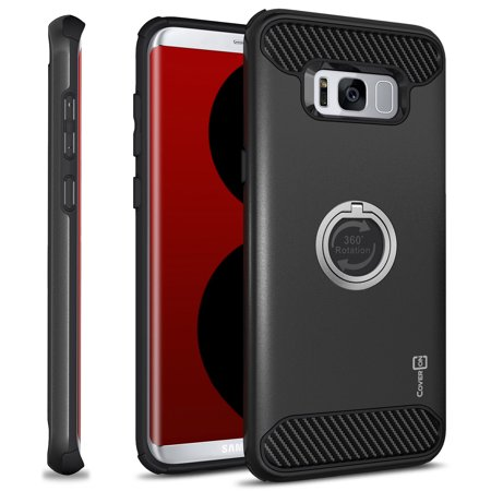 CoverON Samsung Galaxy S8 Plus Case, RingCase Series Hybrid Protective Phone Cover with Grip