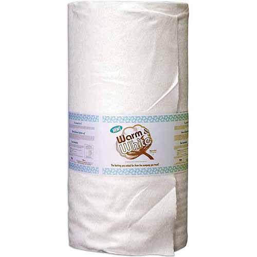 "Warm & White Cotton Batting, Crib Size, 45"" x 40 yds"