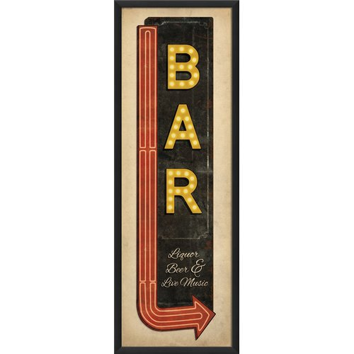 The Artwork Factory Sign Liquor Beer And Live Music Framed Textual Art Walmart Com Walmart Com