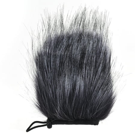 EY-M24 Furry Outdoor Microphone Windscreen Artificial Fur Muff Wind Cover 9cm*5cm (L * D) for Rode Stereo VideoMic Pro and More Grey-White ()