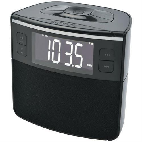 Sylvania SCR1986BT Clock Radio with BT, Auto-Set Dual Alarm Clock and USB Charging
