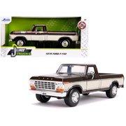 Jada 31588 1979 Ford F-150 Pickup Truck Stock Brown Metallic & Cream Just Trucks 1 by 24 Diecast Model Car