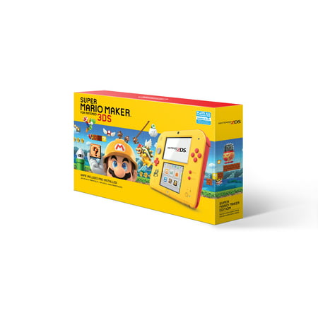 Nintendo 2DS System with Super Mario Maker (Pre-Installed), Yellow / Red, FTRSYBDW - Super Mario Gloves