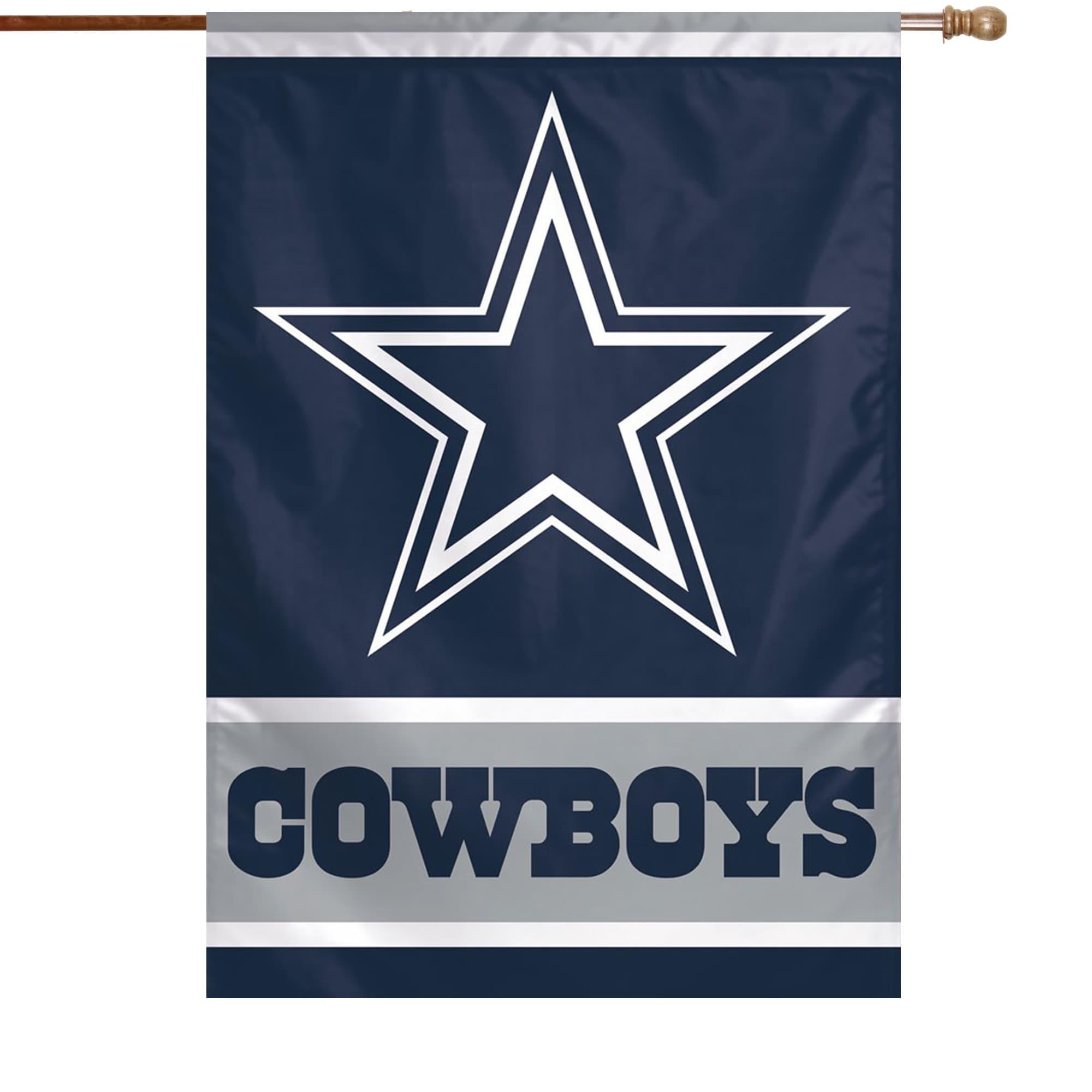 Dallas Cowboys Wincraft 28 X 40 Primary Logo House Flag Walmart Com Walmart Com