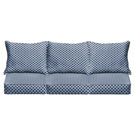 Mozaic Company Hockly 6 Piece Outdoor Corded Sofa Pillow and Cushion Set ()