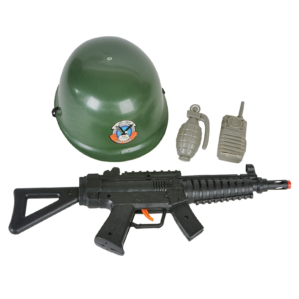 Halloween Army Soldier 4pc Costume Accessory Set Child Green Black