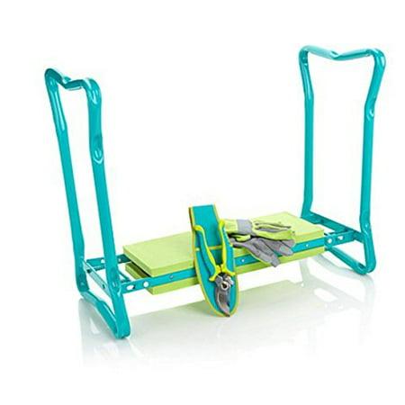 Kneeler/Sitter Fashion Garden Gardening Kneeler Bench Tools and Accessories Collection ~4 Piece Set ()