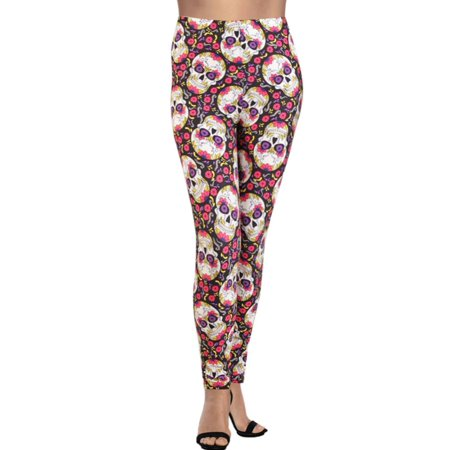 88a7d462671cc LAVRA Women's Plus Size Graphic Print Fashion Leggings