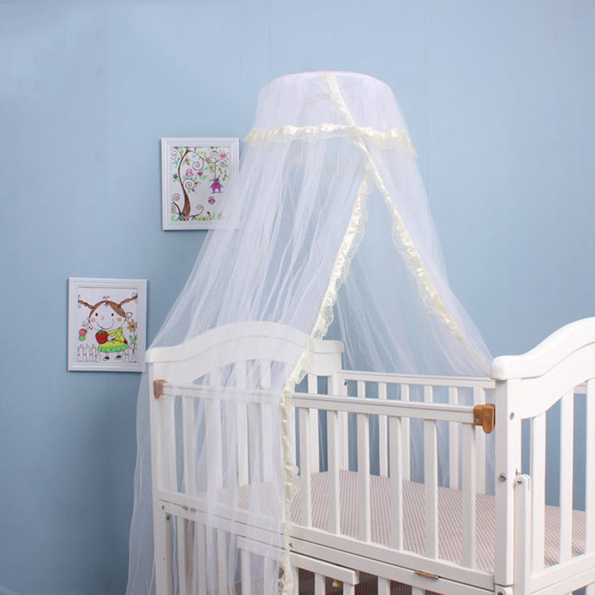 Coxeer Mosquito Net Romantic Breathable Baby Dome Bed Canopy Netting for Baby Children Toddler Kids Mosquito Net for Bed