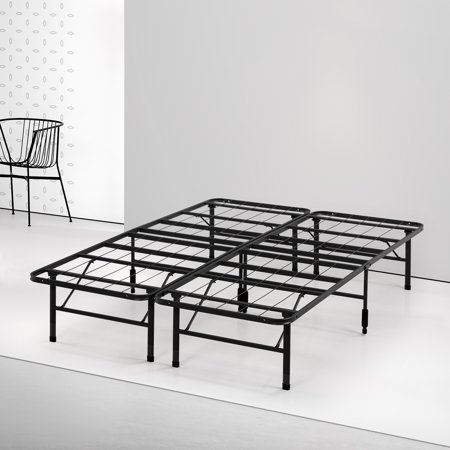 Spa Sensations by Zinus - Steel SmartBase Bed Frame Black, Multiple (Boy Frame)