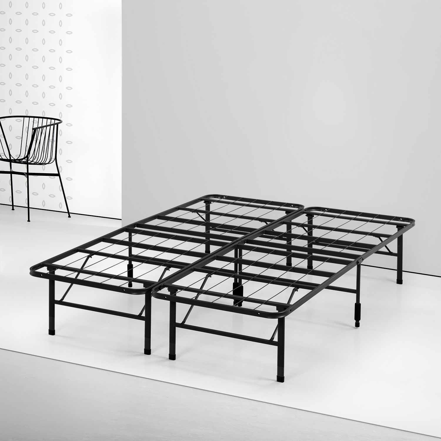 "Spa Sensations by Zinus 14"" Steel SmartBase Bed Frame (Twin-XL)"