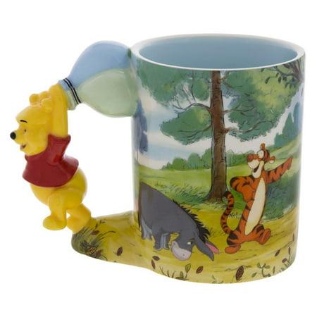 Disney Parks Winnie the Pooh Caracter Handle Winnie 12oz Coffee Mug New - Walmart.com