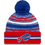 Buffalo Bills New Era Youth 2021 NFL Sideline Sport Pom Cuffed Knit Hat - Royal/Red - OSFA