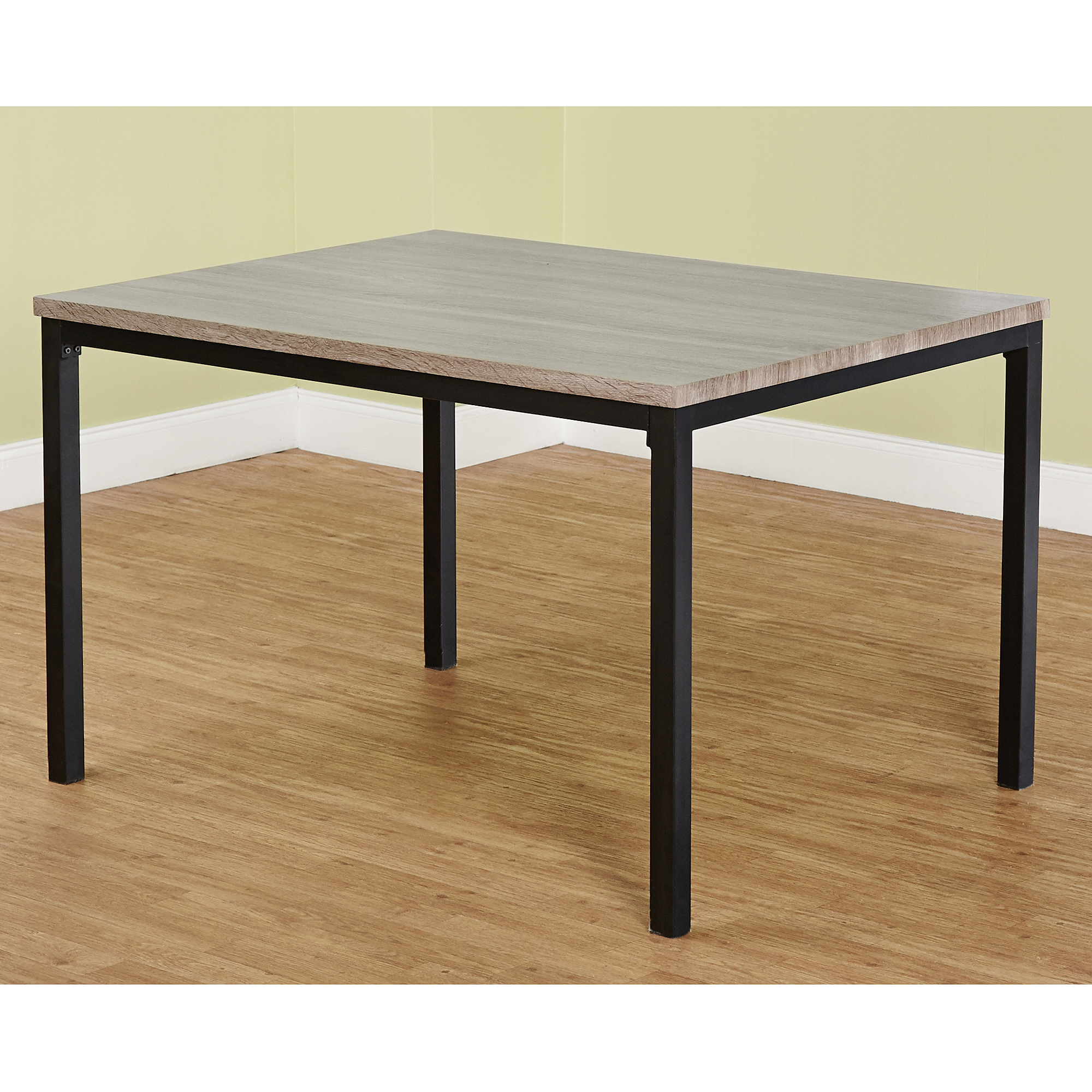 Jaxx Collection Dining Table, Black/Gray