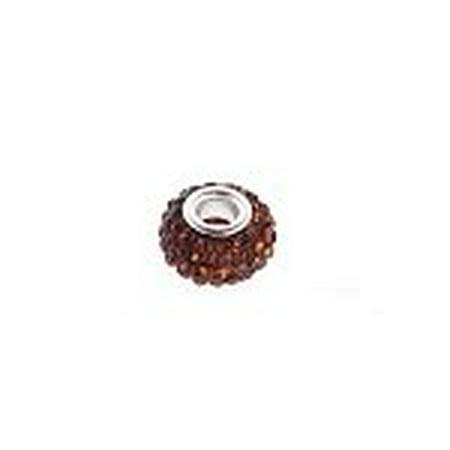 - Buckets of Beads Swarovski Crystal Charm Bead, Brown